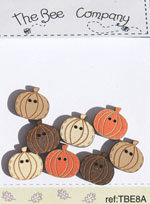 Mini Pumpkins button pack by The Bee Company TBE8A