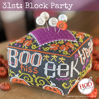 PIN SET for 31st Block Party by Hands on Design