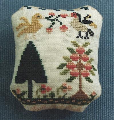 Secret Garden Pin Pillow by The Samplar Workes