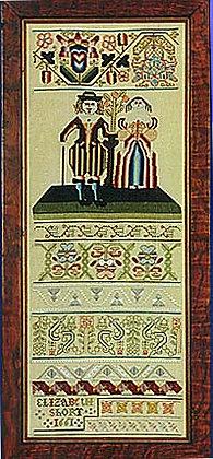Elizabeth Short Sampler 1661 KIT by The Scarlet Letter