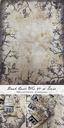 BIG CUT Dark Spell 30 Count Hand-Dyed Linen by The Primitive Hare