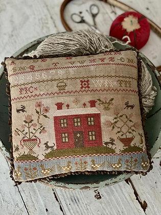 Rose Cottage Sampler Pinkeep by Stacy Nash Primitives