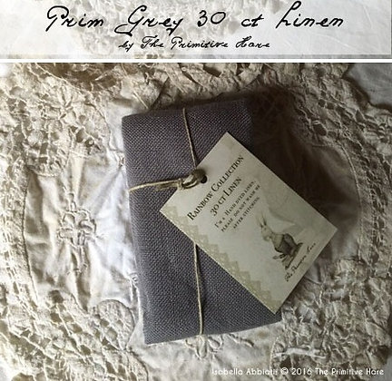 30 Count Prim Gray Linen by The Primitive Hare