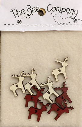Mini Reindeer button pack by The Bee Company TMrennes