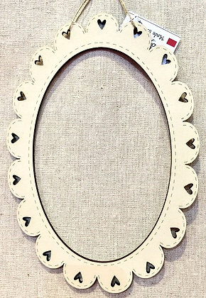 Cream Oval Frame by The Bee Company CACovale