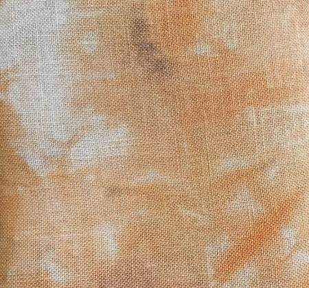 32 Count Halloween Pumpkin Fat Quarter Hand-Dyed Linen by xJudesign