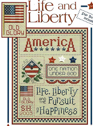 CATS Life & Liberty (chart only) by Sue Hillis Designs