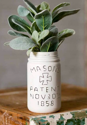 White Pint Mason Jar (Plant Not Included)