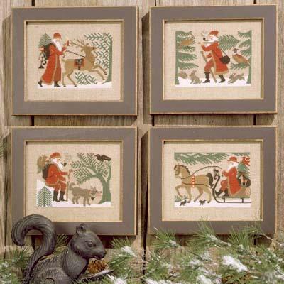 Woodland Santas by The Prairie Schooler