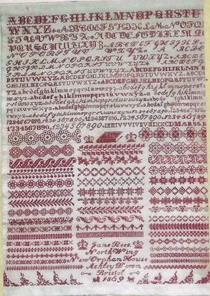 Jane Rees 1869: A Bristol Sampler by The Scarlet Letter