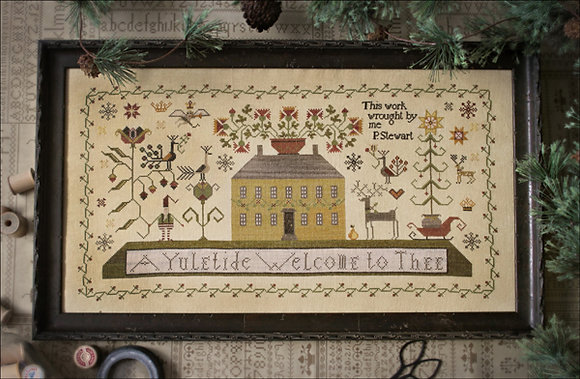 A Yuletide Welcome by Plum Street Samplers