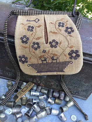 *Stone Flowers Sewing Pocket by Stacy Nash Primitives