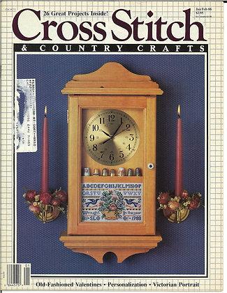 CATS Cross Stitch & Country Crafts Jan/Feb '88