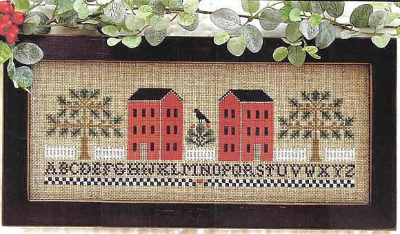 Two Red Houses by Little House Needleworks