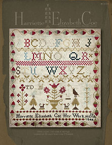Harriette Elizabeth Coe Reproduction Sampler by With Thy Needle & Thread