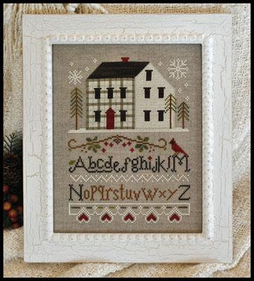 Winter Plaid cross stitch chart by Little House Needleworks
