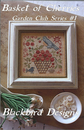 Basket of Cherries by Blackbird Designs