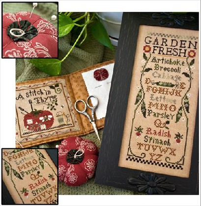 Fresh from the Garden Chart & Threads by Little House Needleworks