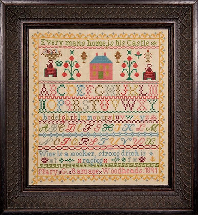 Mary G. Ramage 1891 by Hands Across the Sea Samplers