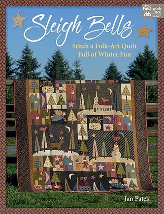 Sleigh Bells Folk-Art Winter Quilt Pattern by Jan Patek