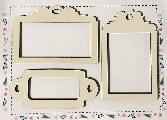 Cream Frame Tags by The Bee Company ET14Creme