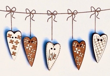 Coeur Love Button Set TB3CL by The Bee Company