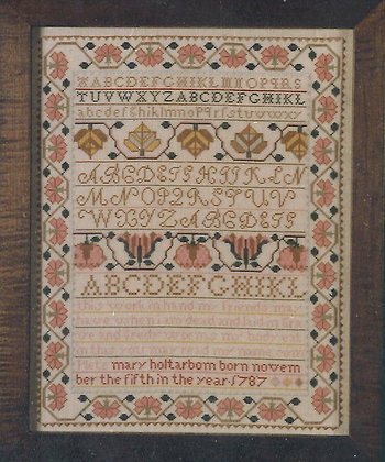 Mary Holtarbom Kit with floss/linen by The Scarlet Letter