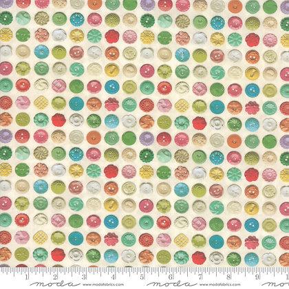 PARCHMENT MIX BUTTONS Flea Market Mix Fabric 7356 11D by Moda