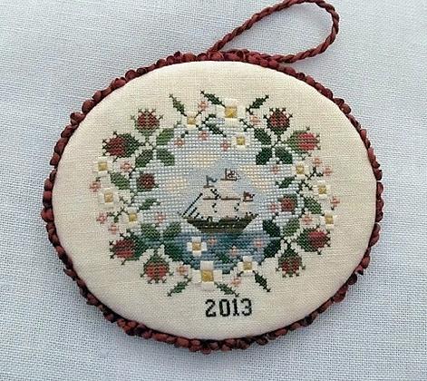 Mayflower Rose Ornament by Heart's Ease Examplar Workes