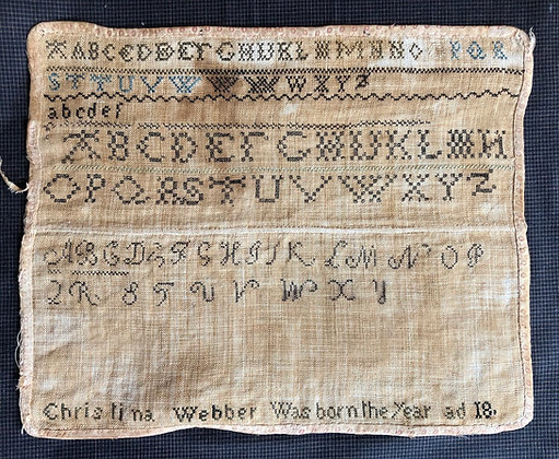 Christina Webber's Marking Sampler DOWNLOAD by Shakespeare's Peddler