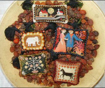 Folk Art Pincushions by Carriage House Samplings