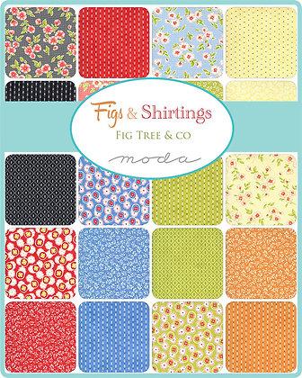 FIGS SHIRTINGS Fat Quarter Bundle by Fig Tree & Co/Moda