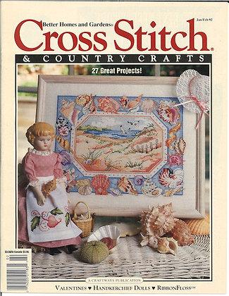 CATS Cross Stitch & Country Crafts Jan/Feb '92