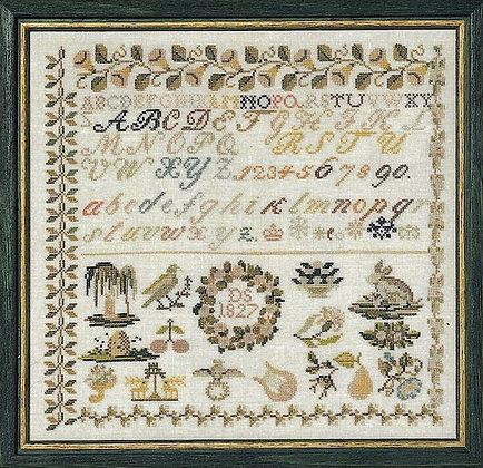 Sampler 1827 by Permin of Copenhagen