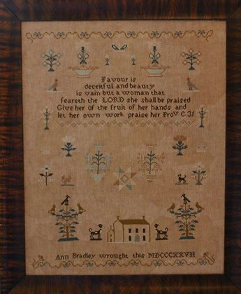 Ann Bradley Sampler by Stacy Nash Primitives