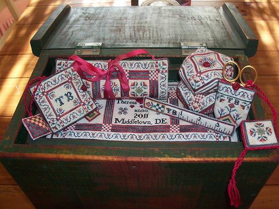 Mary Sophia's Pennsylvania German Sewing Set by Heart's Ease Examplar Workes