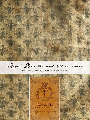 NASH-STASH Royal Bee 30 or 40 Count Linen by The Primitive Hare
