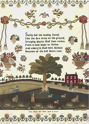 Lucy Navier 1818 Sampler Cards by Hands Across the Sea