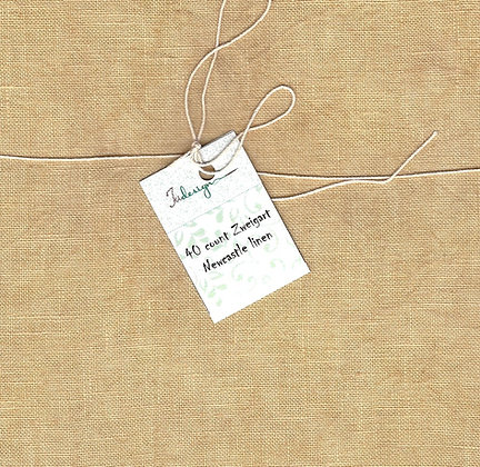 36 Count Light Hazelnut Fat Quarter Hand-Dyed Linen by xJudesign