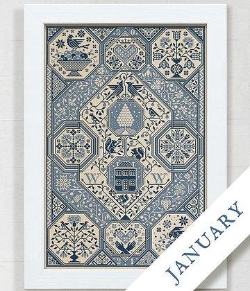 PART 1/12 2021 Stitch-Along by Modern Folk Embroidery