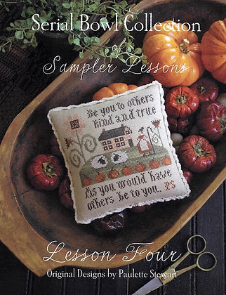 Lesson Four (Serial Bowl Collection) by Plum Street Samplers
