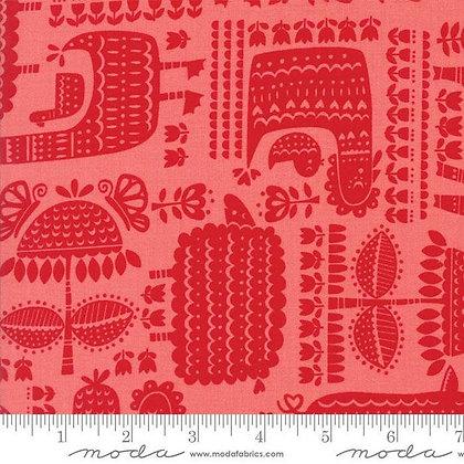 DISCONTINUED Farm Fun (Strawberry) Fabric by Moda