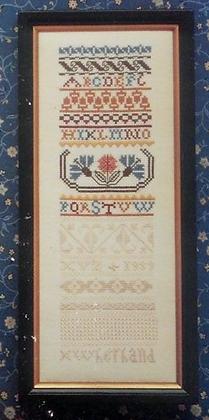 Miniature White Work Sampler by Eileen Bennett OUT OF PRINT