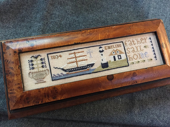 Father Sail Home Cross Stitch Chart by Shakespeare's Peddler
