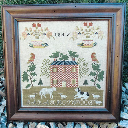 *Sarah Hopwood 1847 Reproduction Sampler by The Scarlett House