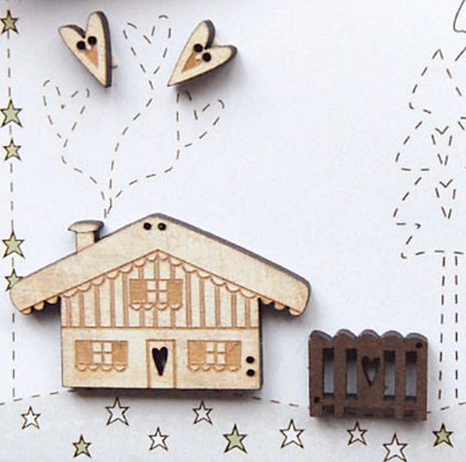 Winter Chalet Buttons by The Bee Company TBH4