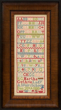 Martha Guthrie 1880 by Hands Across the Sea Samplers