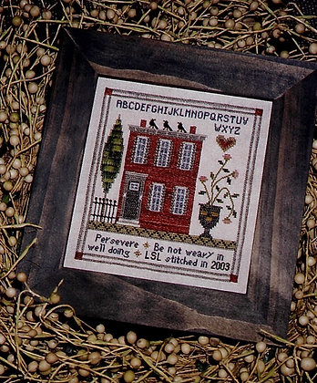 Perseverance Sampler WITH LINEN by Chessie & Me