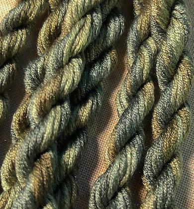 Slate Green Gloriana 12-Strand Silk 6 Yards