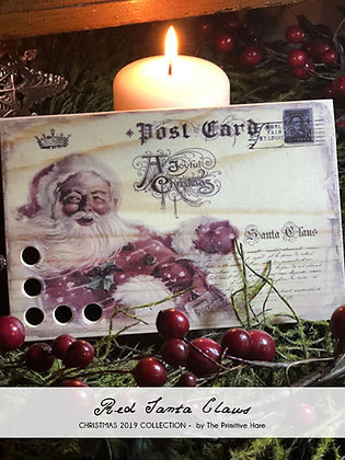 Red Santa Claus Thread Keep by The Primitive Hare